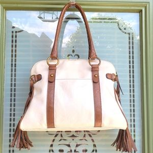 BUENO Satchel Shoulder Bag Top Zip Boho Handbag